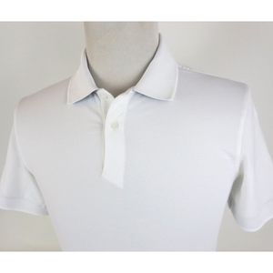 Lululemon Small Tech Pique Polo Shirt Solid White